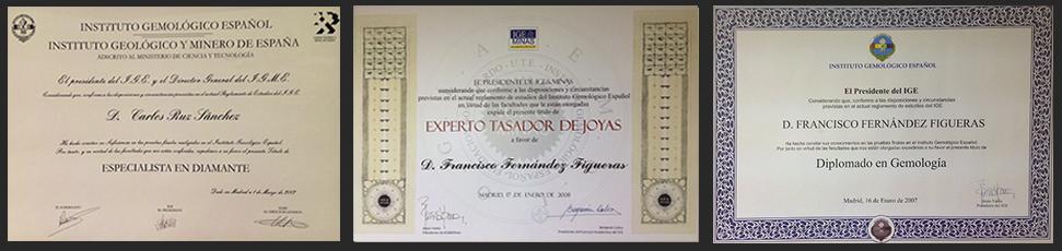 Diplomas de gemología, especialistas en diamantes y tasación de joyas